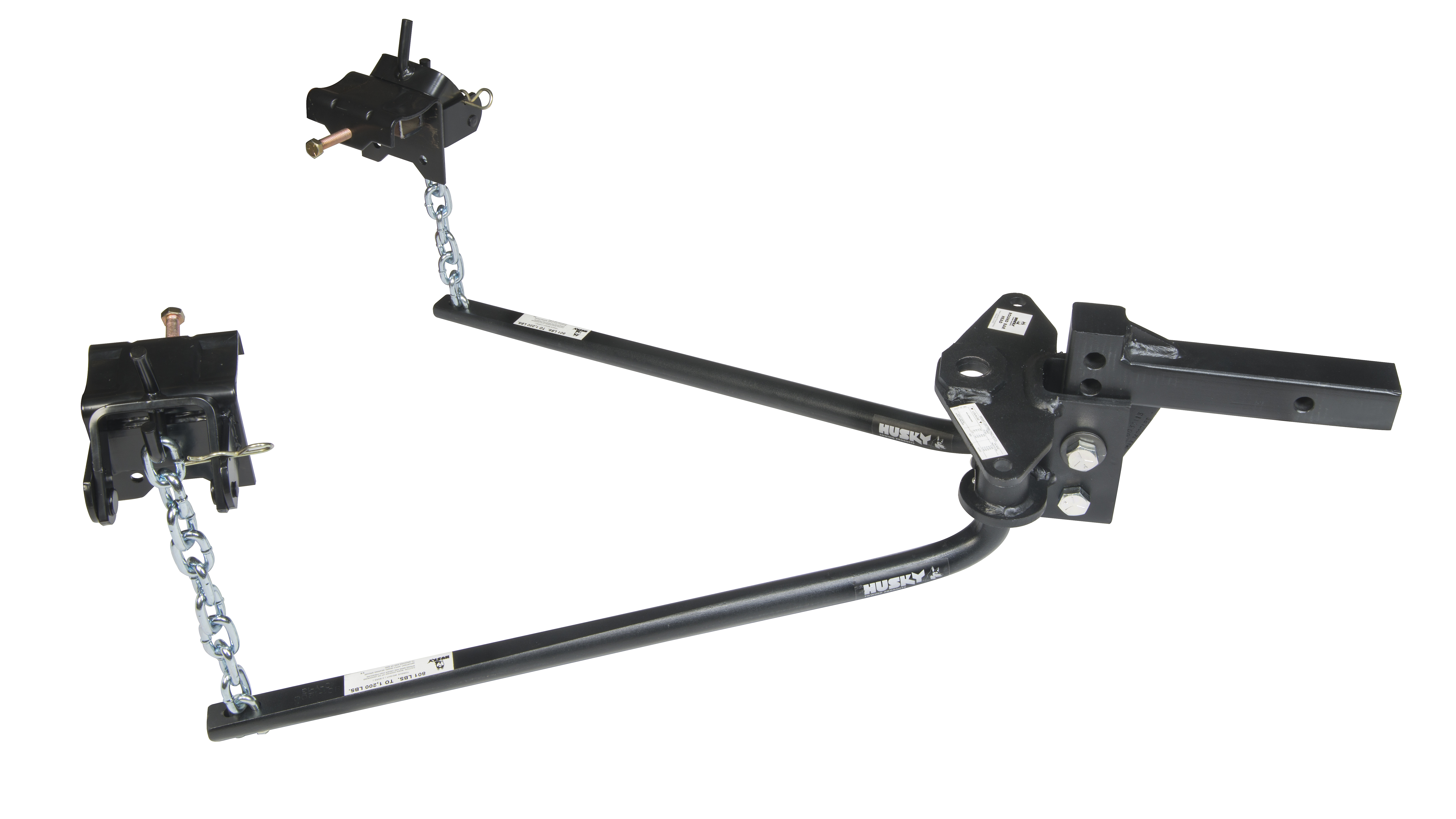 Husky 31422 Round Bar Weight Distribution Hitch with Bolt-Together Ball Mount//Shank Assembly 800 Lbs Max Tongue